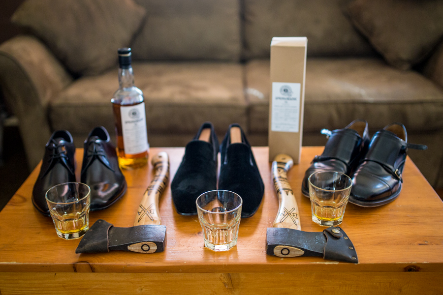 groomsmen gifts axe and scotch