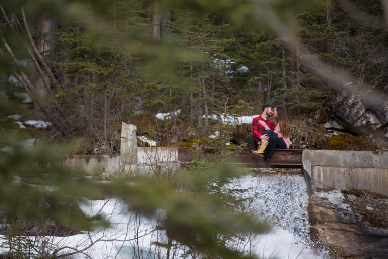 grassi lakes Canmore engagement