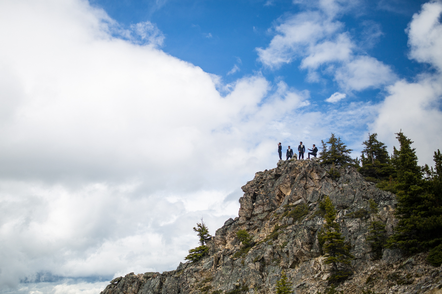 mountain top pictures from kicking horse weddings