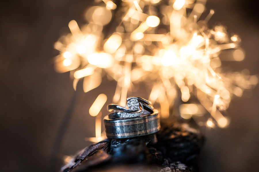 ring shot with sparklers