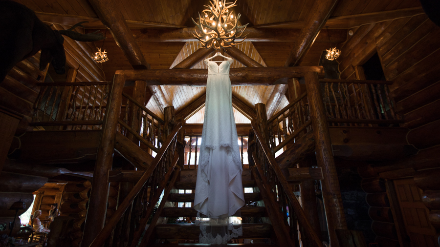 wedding dress hanging in a cabin, make up by jenna nicole, glam n go, Panorama Mountain resort, wedding at panorama resort, brides at pano, weddings in invermere, rustic weddings in panorama, British Colombia, dream mountain weddings, beautiful panorama weddings, panorama bc, bc wedding photographer, Mountain resort Panorama, Panorama Invermere, Summer weddings in Panorama, blue skies and brides