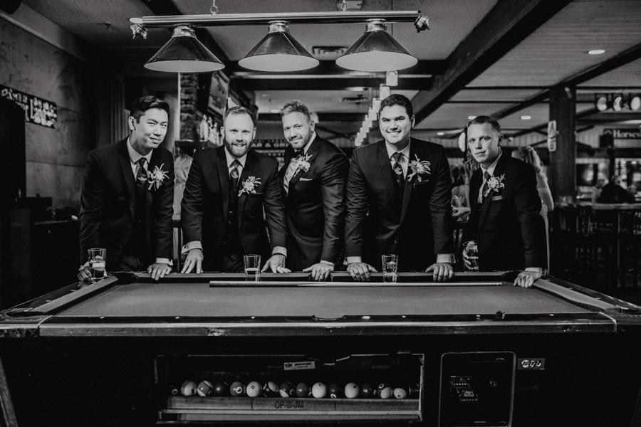 groomsmen, pool table, panorama resort, invermere bc