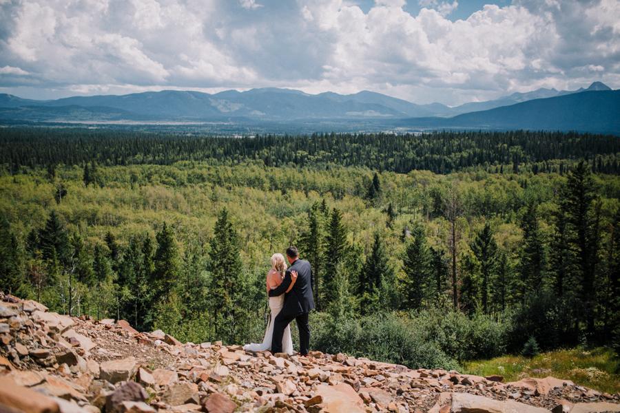 couples photos after an elopement