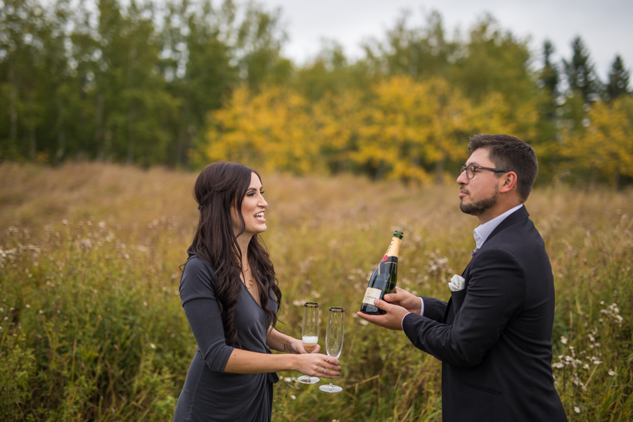 farm engagement, ranch engagement session, country side engagement, cute yet engagements, yet, edmonton, edmonton engagement, sparkler engagements, champagne engagements