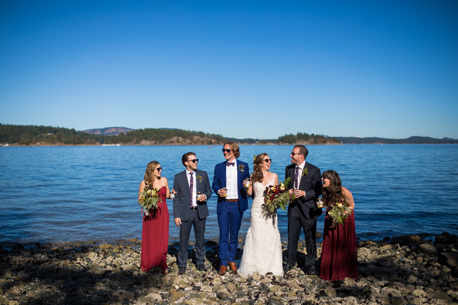 wedding party, salt spring, island, west coast