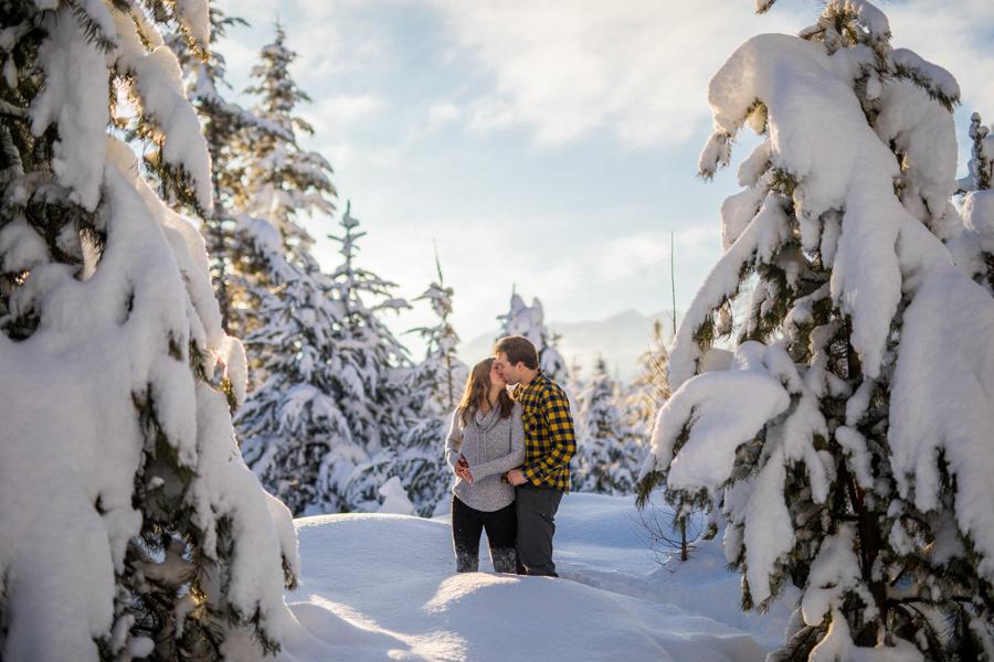 Kimberly bc winter engagement photos