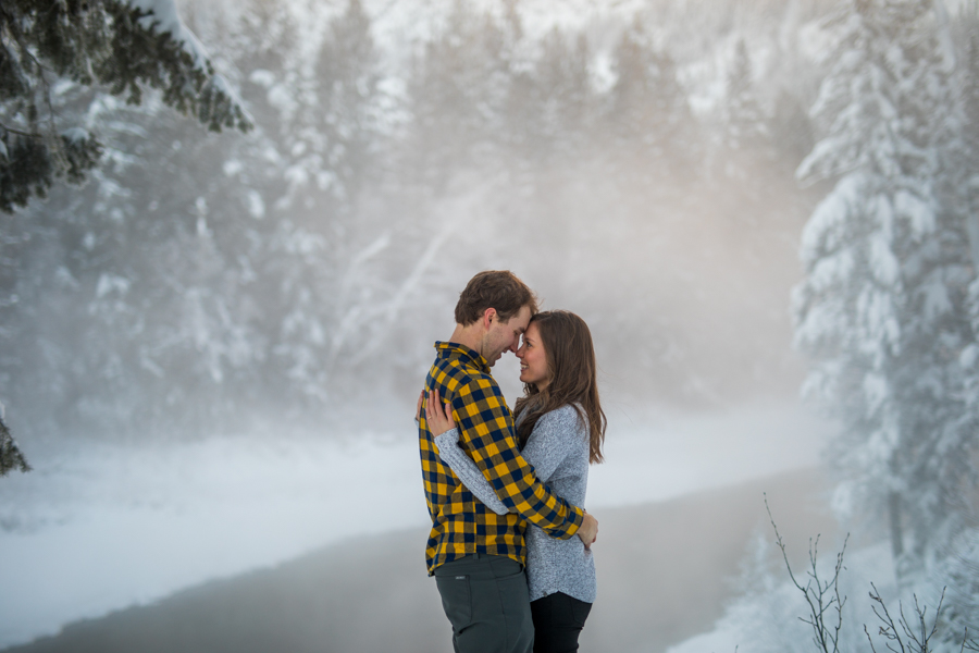 Kimberley bc winter engagement photography