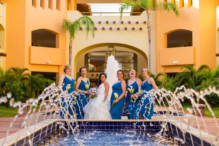 barcelo maya caribe, wedding portraits, wedding party