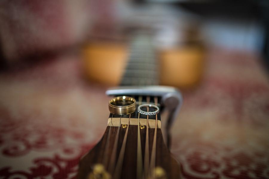 ring shot on guitar