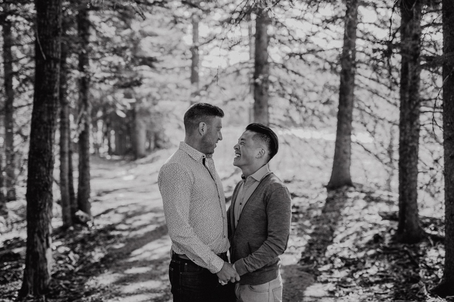 same sex couple, elbow falls, canada, lgbt couple