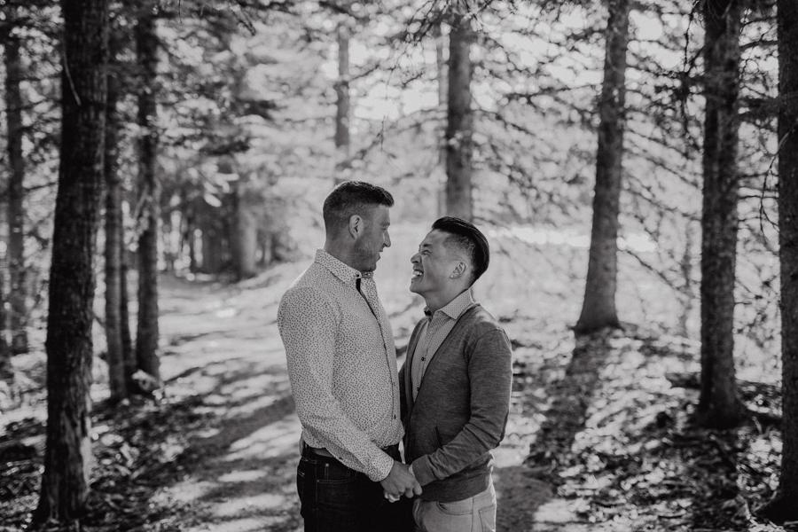 same sex couple, elbow falls, canada, lgbt couple