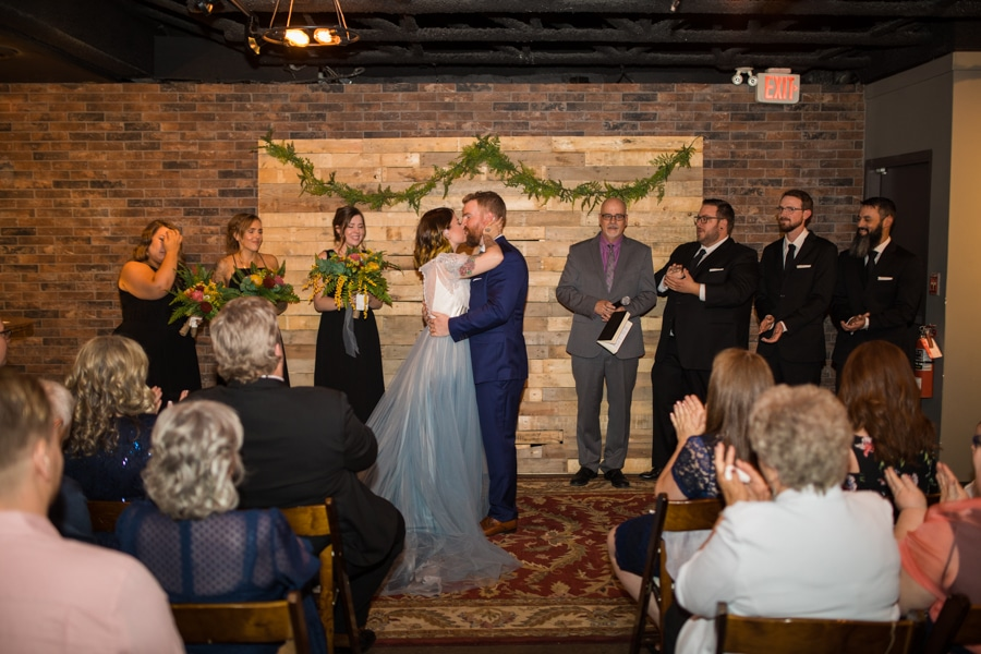 first kiss at The Baron Calgary event venue