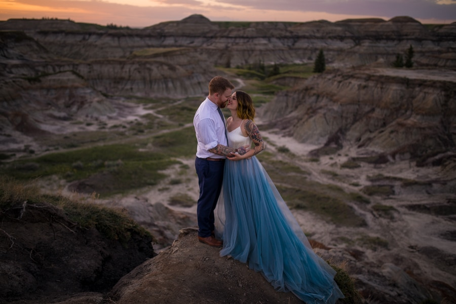 sunset wedding sessions from Drumheller Alberta