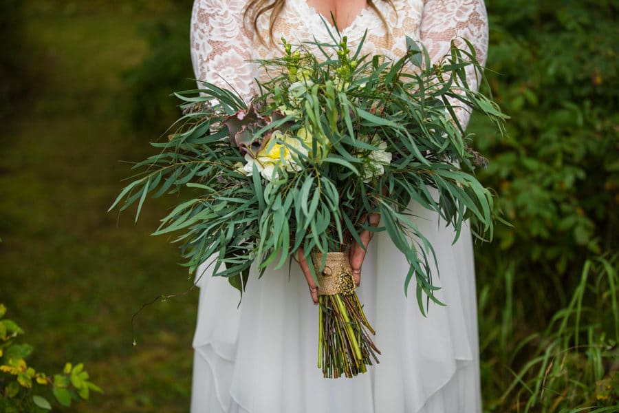 woodland and wildflower weddings do the bouquet for the bride as well