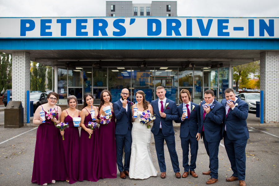 peter's drive in wedding pictures