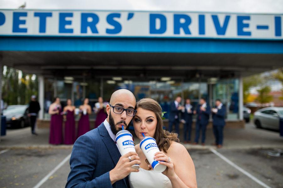 peter's drive in wedding pics