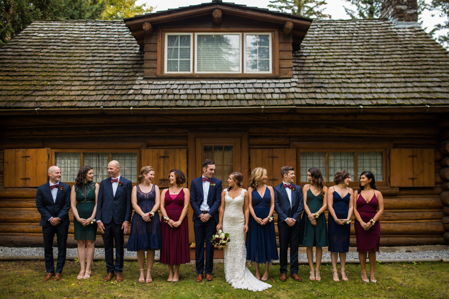 banff wedding party pictures