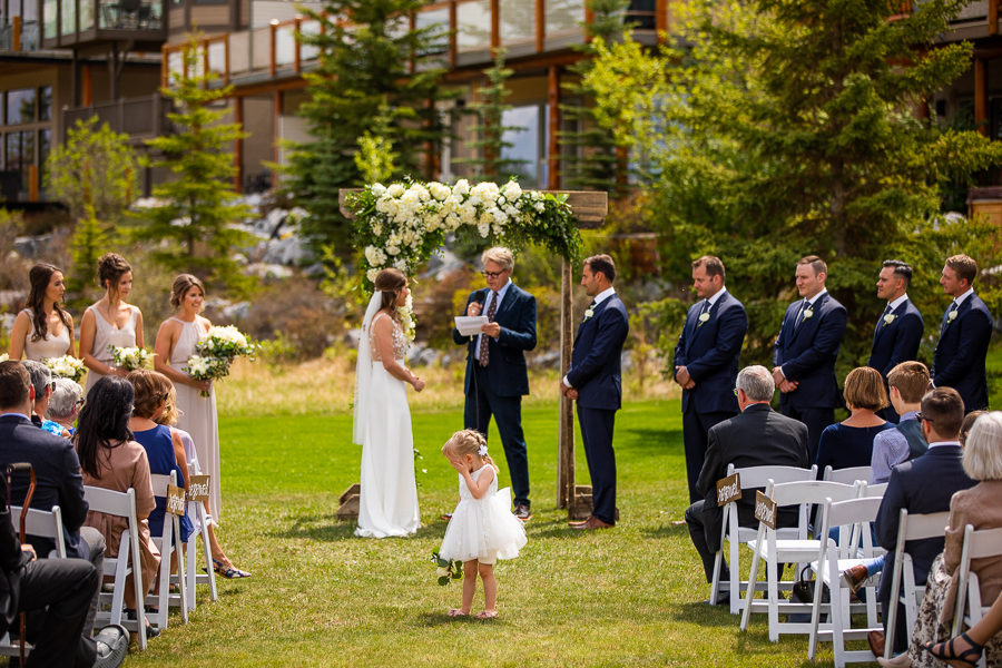 outdoor ceremony location Canmore - Alberta