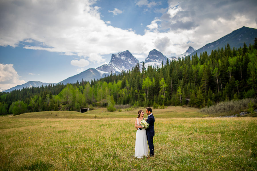 outdoor wedding portraits canmore alberta