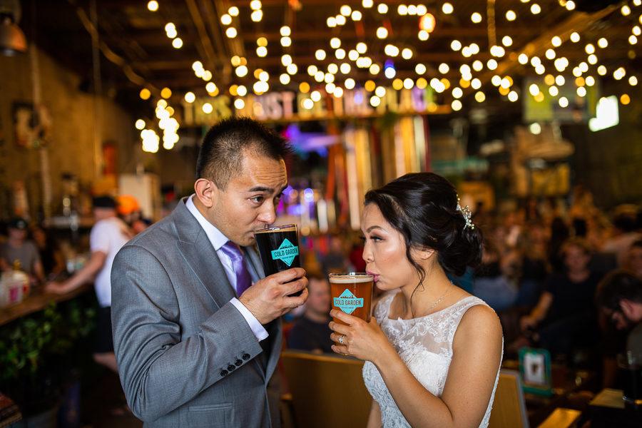 east village wedding photos - calgary east village wedding photos - Cold garden brewery wedding photos