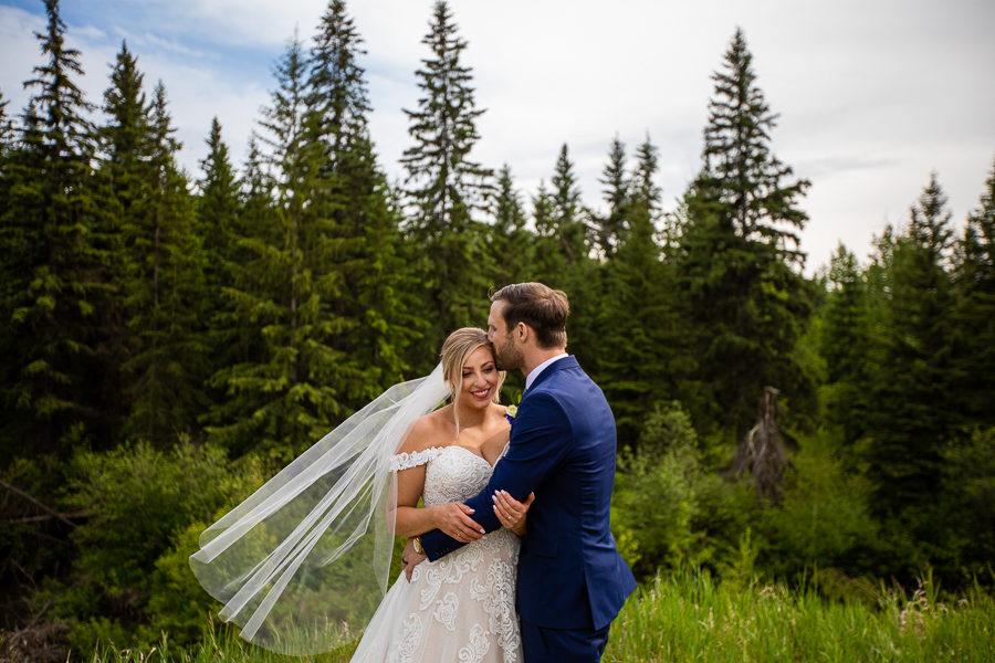 snow valley wedding - edmonton wedding