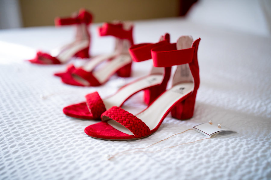 amazing red wedding shoes