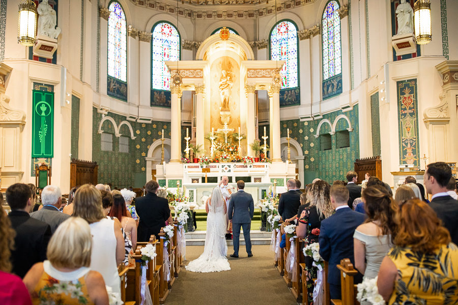 THE BASILICA CATHEDRAL OF ST. JOHN THE BAPTIST wedding photos