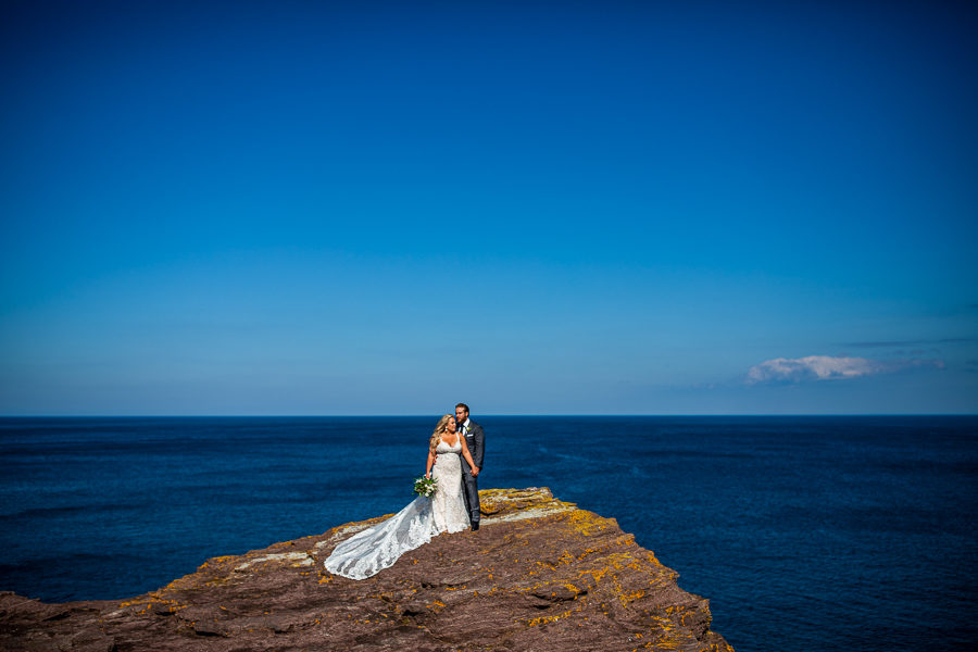 Flatrock Newfoundland wedding portraits