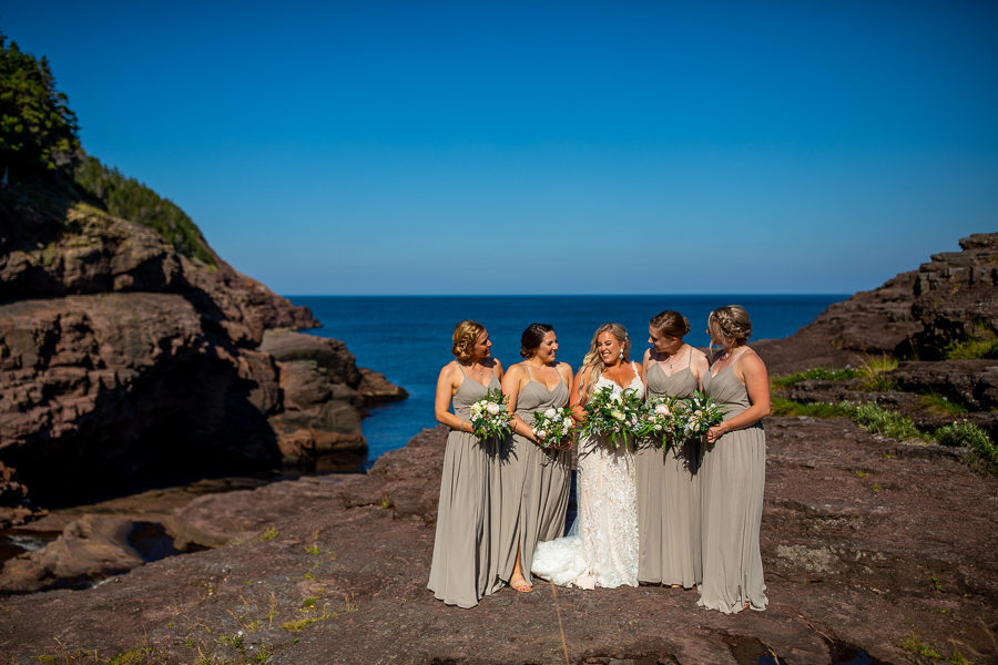 Flatrock Newfoundland wedding party pics