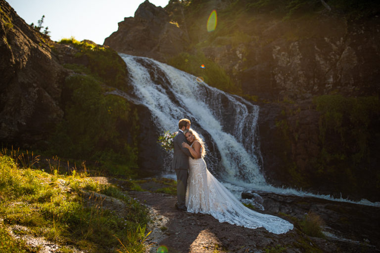 Flatrock Newfoundland waterfall wedding pics