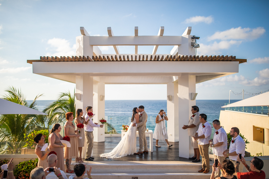 IBEROSTAR PLAYA MITA wedding - destination wedding photographer Cole Hofstra wedding ceremony