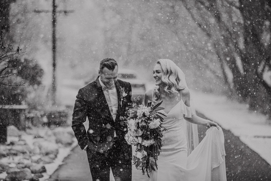 River Cafe Weddings in Calgary in the snow