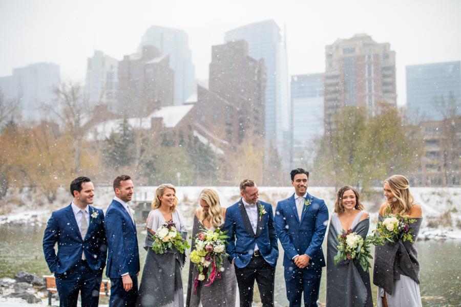 winter wedding photos in Calgary