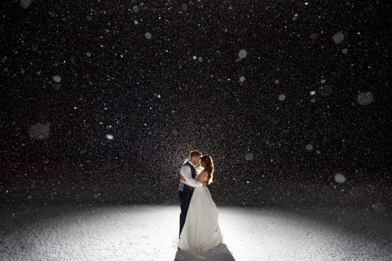 Canmore winter wedding - Silvertip winter wedding