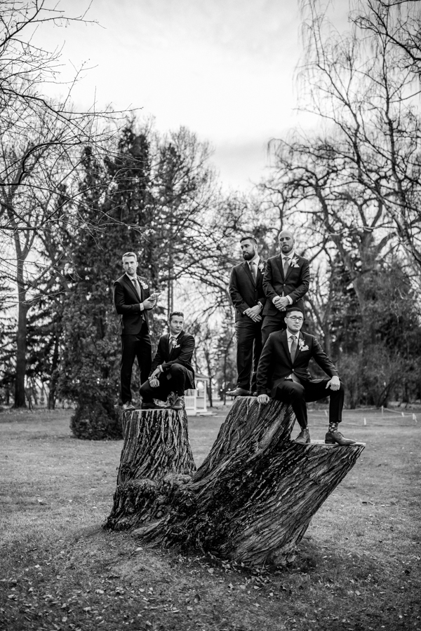 The Norland weddings - The Norland Lethbridge - Lethbridge wedding venue = groomsmen pictures