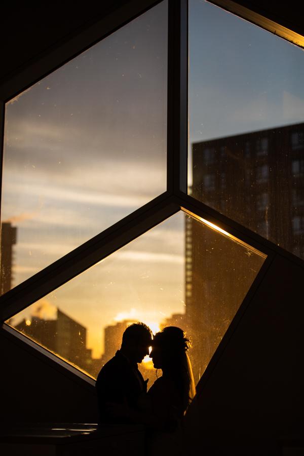 Calgary public library wedding photos
