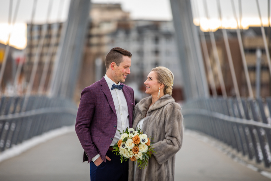 East village bridge wedding photos