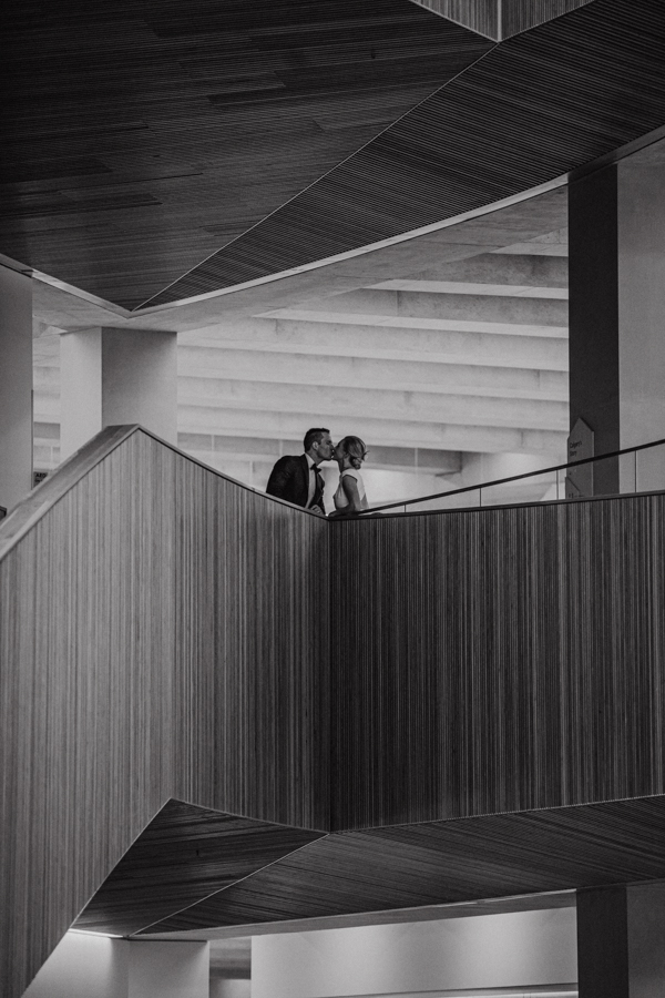 Wedding picture inside Calgary Library