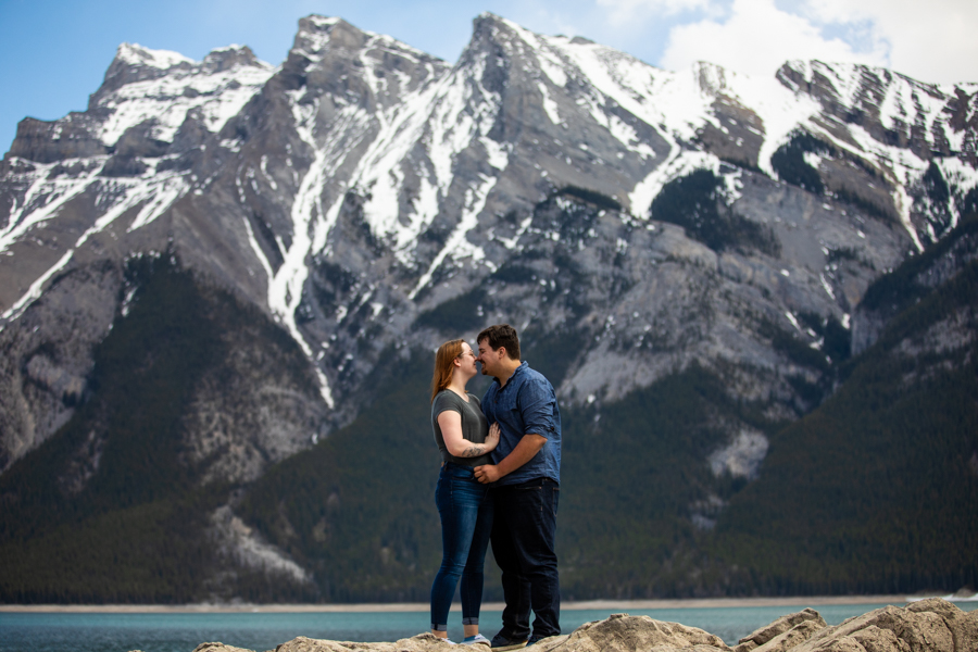 Lake Minnewanka engagement photos