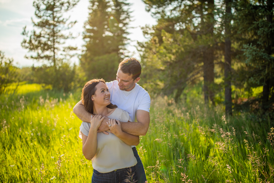 Ranch engagement photos on the family farm