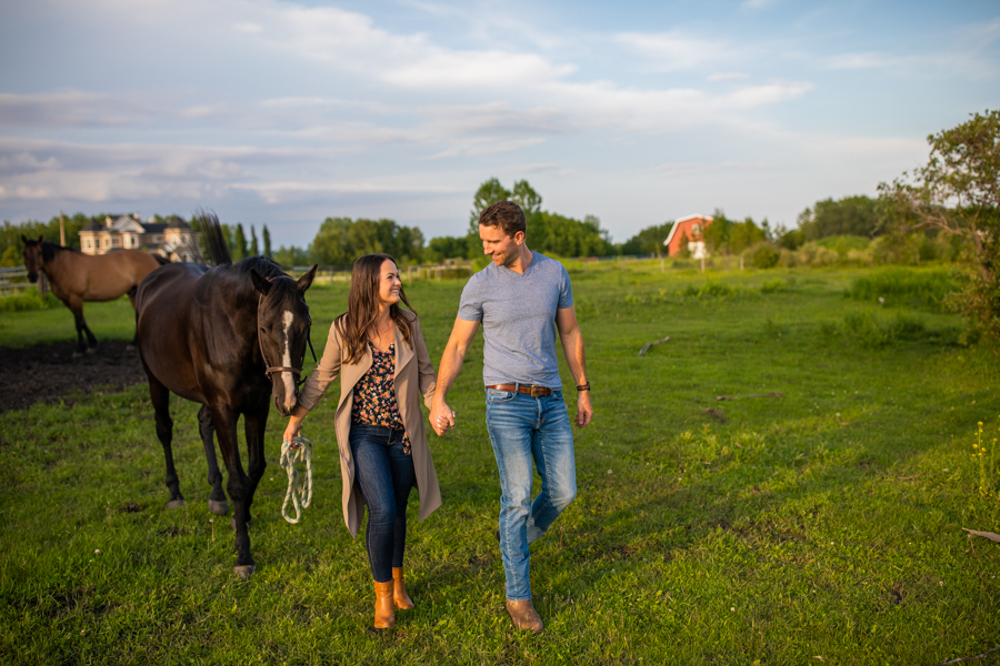 Having my horse in my engagement session on our ranch