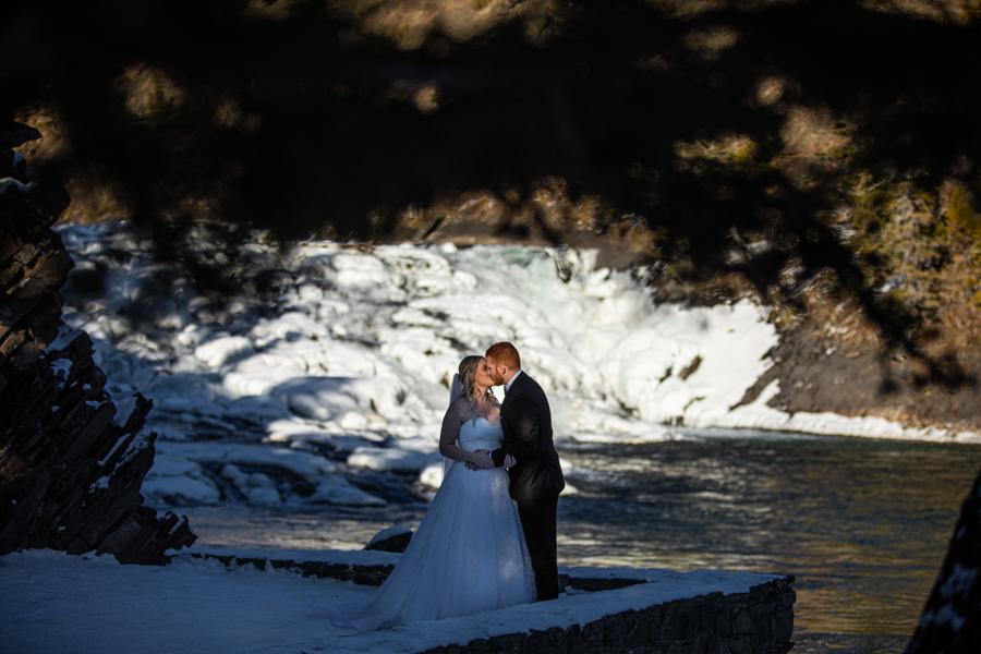 bridal part portraits Fairmont Banff Springs wedding