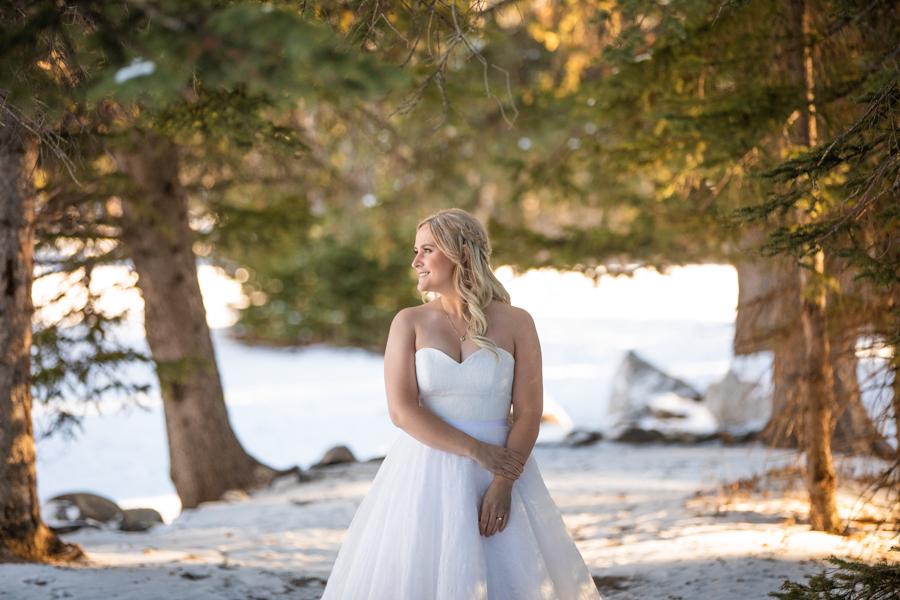 Bridal portrait at the falls