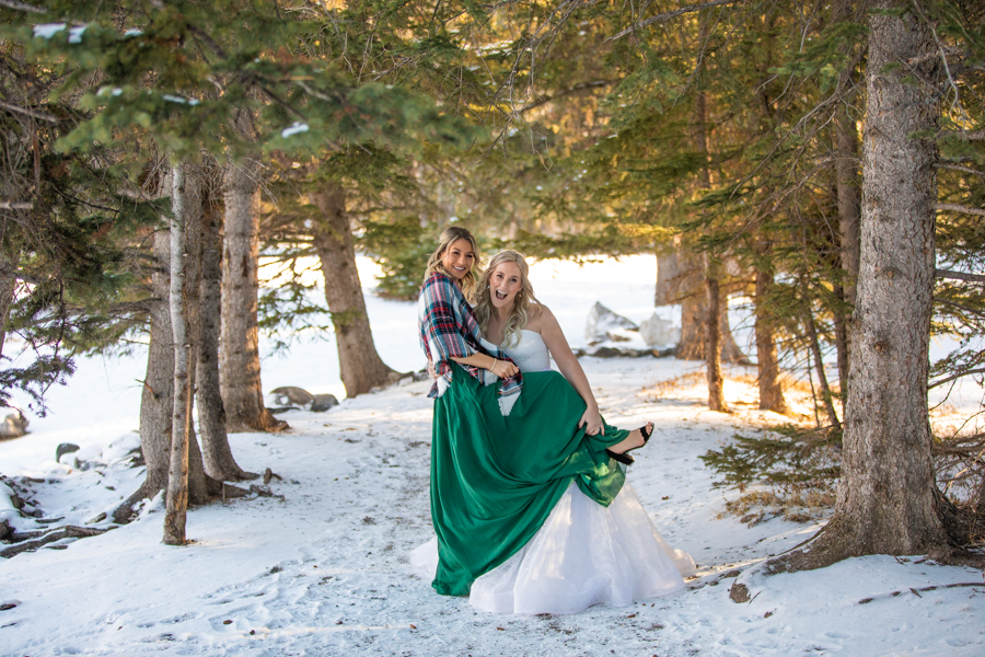 wedding party picture locations in Banff