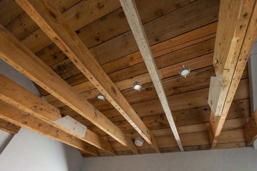 interior of a home rafters