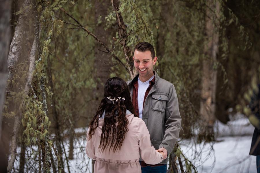 bride and groom social distancing wedding