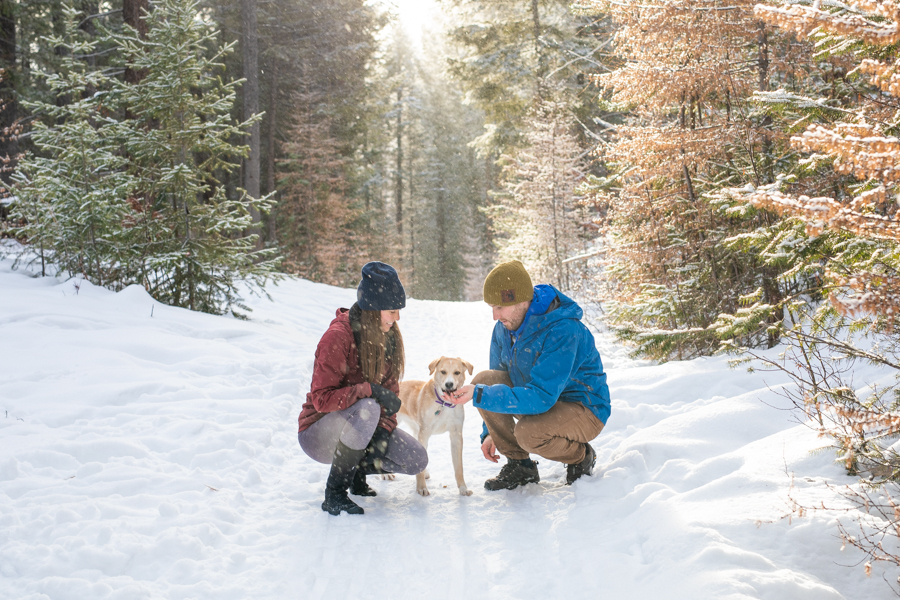 Calgary Couples portrait with there dog