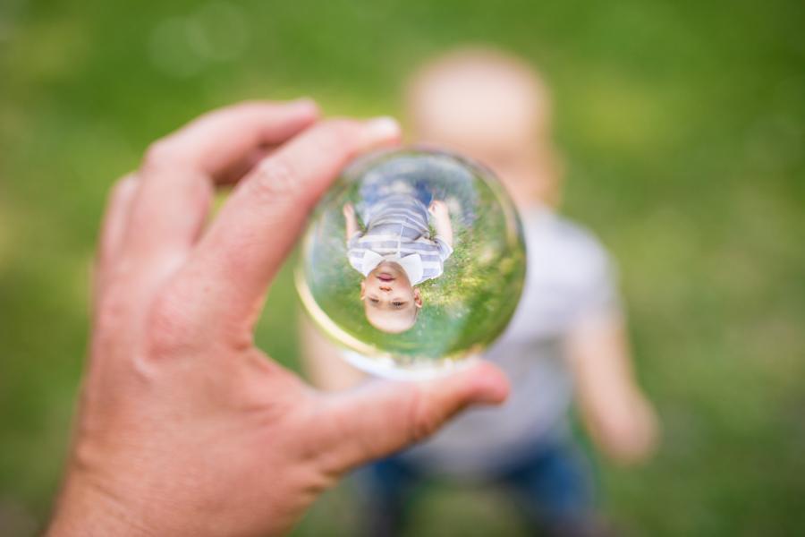 mirror ball family photos