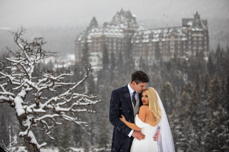 Banff Springs winter wedding