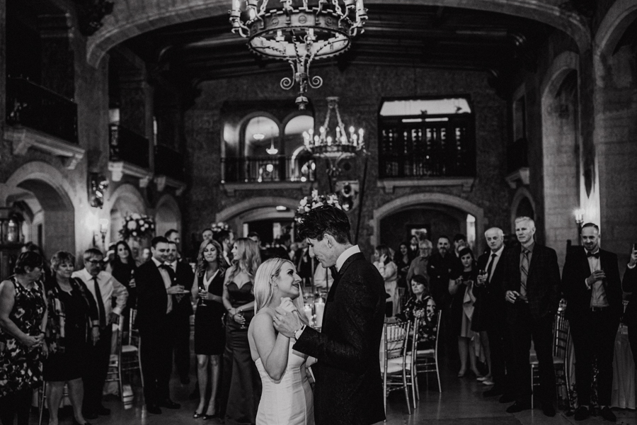 Mount Srephen room first dance at the Fairmont Banff springs wedding